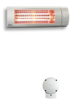 Somfy's outdoor heater with RTS